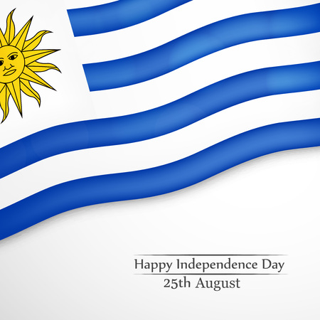 25th: illustration of Uruguay Independence Day background 25th of August