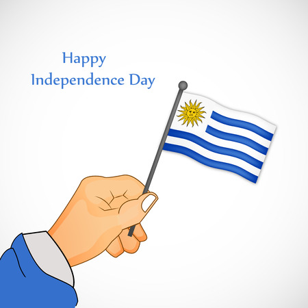 declaration of independence: illustration of Uruguay Independence Day background 25th of August