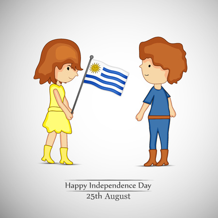 illustration of Uruguay Independence Day Background 25th of August