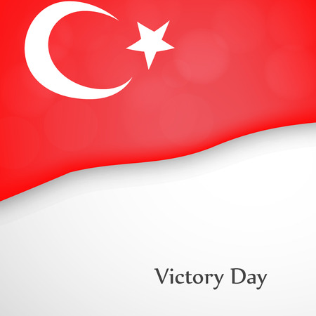 illustration of Victory Day in Turkey Background