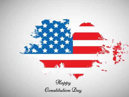 EE.UU. Día de la Constitución de fondo