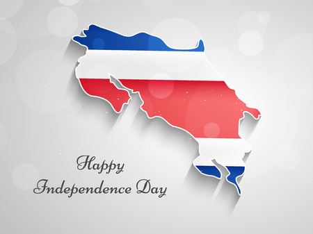 illustration of Costa Rica Independence day background Illustration