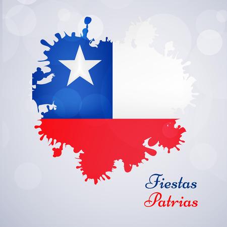 bandera chilena: Fondo de las Fiestas Patrias de Chile