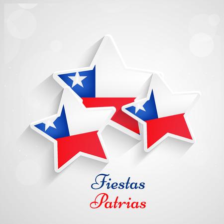 Chili Fiestas Patrias achtergrond Stock Illustratie