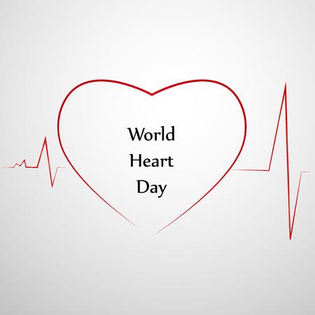 heart disease: illustration of World Heart Day Background Illustration