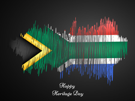 illustration of elements of Heritage Day Background