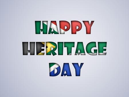 illustratie van elementen van Heritage Day achtergrond Stock Illustratie