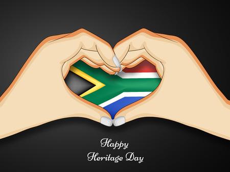 illustration of elements of Heritage Day Background