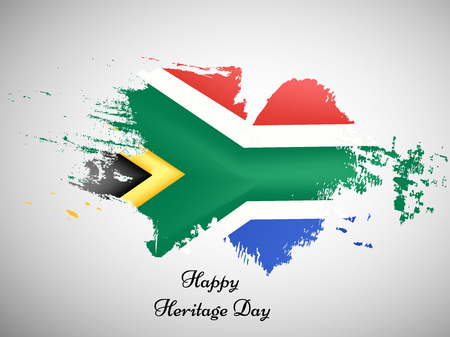 illustration of elements of heritage day background Stock Illustratie