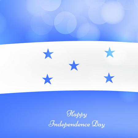 illustration of elements of Honduras Independence Day background