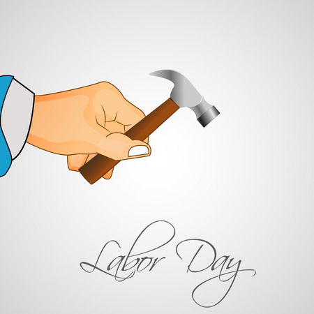 workers rights: illustration of elements of labor day background