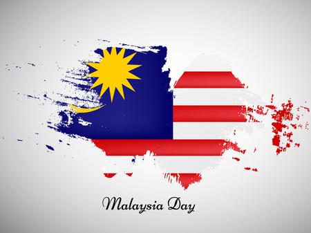 말레이시아 하루 배경 요소의 그림