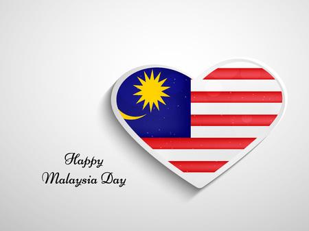 illustratie van elementen van de achtergrond van Maleisië Dag