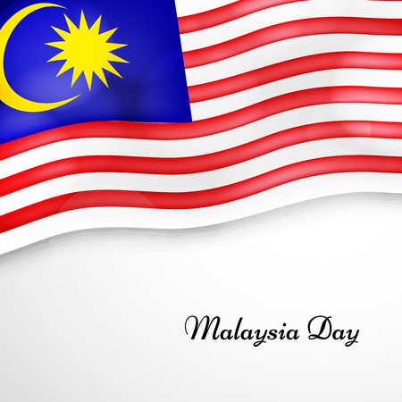 illustration of elements of Malaysia Day Background