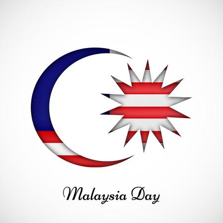 illustratie van elementen van Maleisië dag achtergrond Stock Illustratie