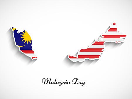 ilustracja elementów tła dzień Malezji