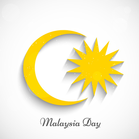 Illustration of elements of Malaysia Day