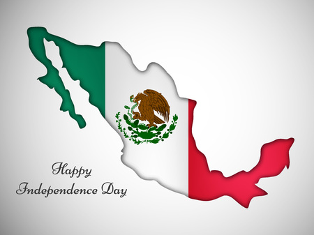 Illustration of elements of Mexico Independence Day text