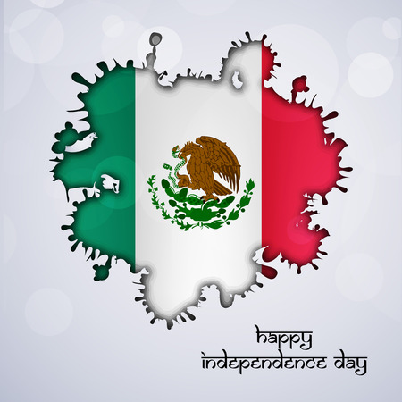 Mexico independence day illustration.