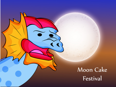 festive occasions: illustration of elements of Mid Autumn Festival background