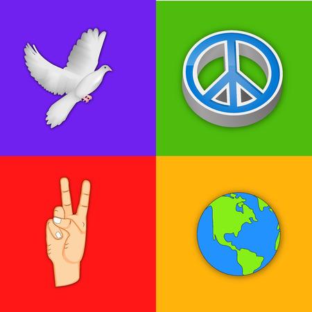 illustration of elements of International Peace Day Background