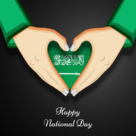 illustration of elements of  Saudi Arabia National Day Background