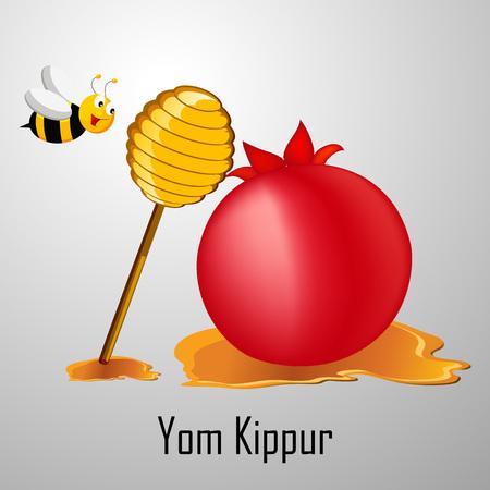 Illustration of elements of Yom Kippur background