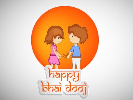 Illustration of elements of hindu festival Bhai Dooj Background