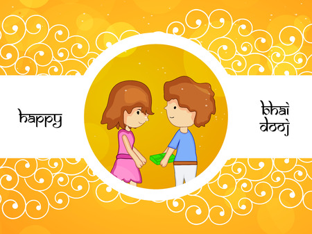 Illustration of elements of hindu festival bhai dooj background Illustration