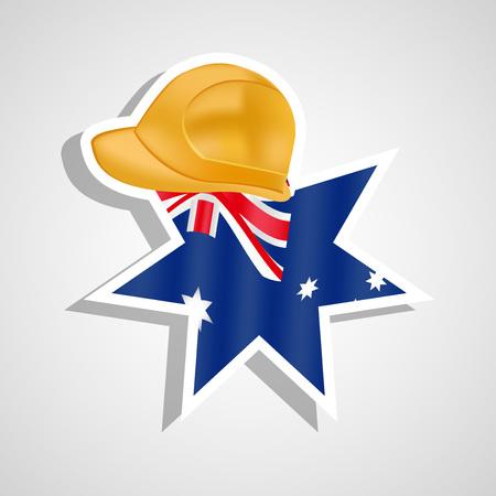 Illustration von Elementen des australischen Arbeitstag Hintergrund Illustration