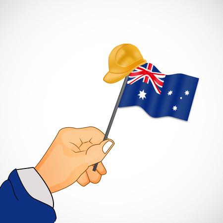 gewerkschaft: Illustration von Elementen des australischen Arbeitstag Hintergrund Illustration