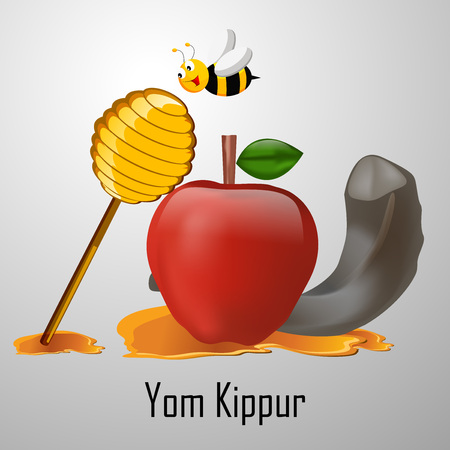 illustration of elements of Yom Kippur background