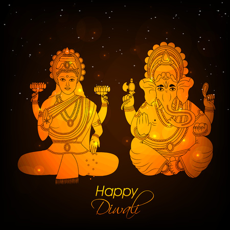 fire crackers: illustration of elements of hindu festival Diwali background Illustration