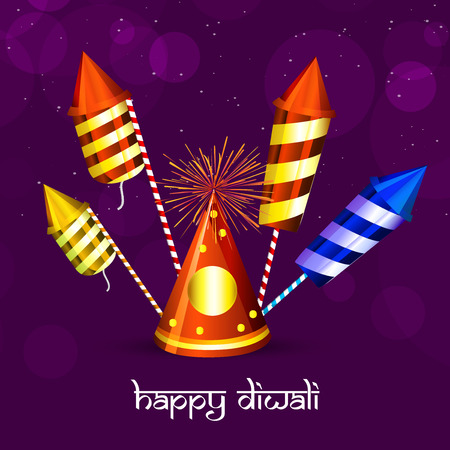 illustration of elements of hindu festival Diwali background Illustration