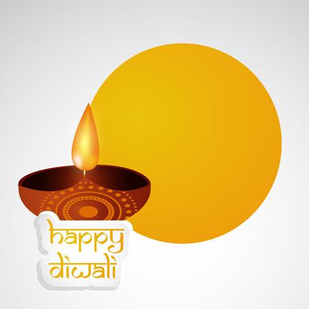 Ilustración de elementos de hindú festival Diwali fondo