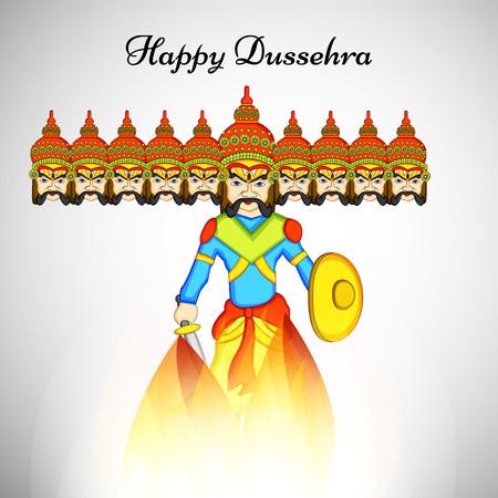 Illustration of elements of hindu festival Dussehra background Illustration