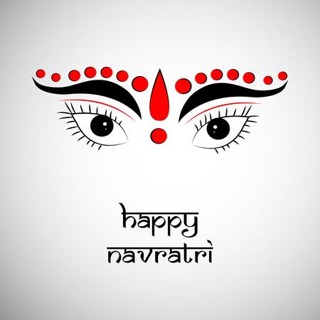 illustration of elements of hindu festival Navratri Background Illustration