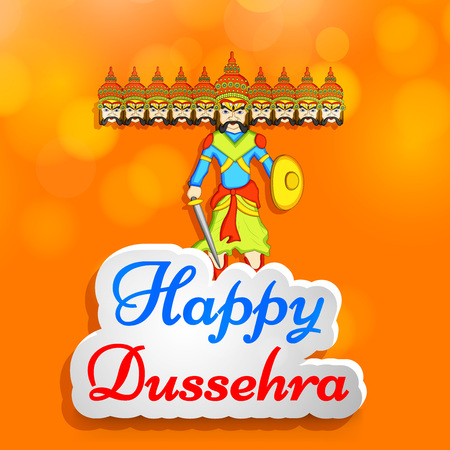 illustration of elements of hindu festival Dussehra background