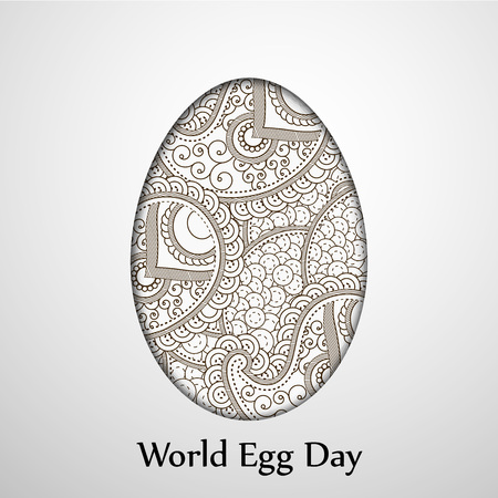 illustration of elements of World Egg Day Background