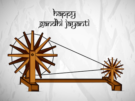 illustration of elements of Gandhi Jayanti Background Vector Illustration