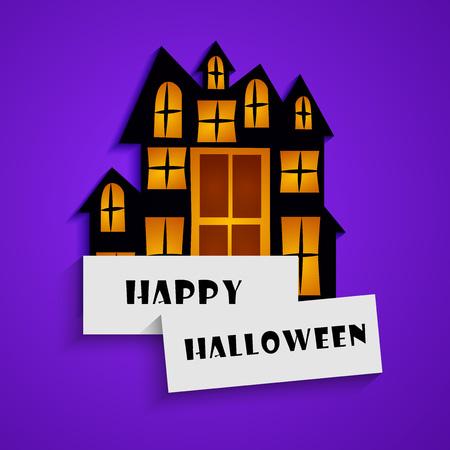 spider web: illustration of elements of Halloween background