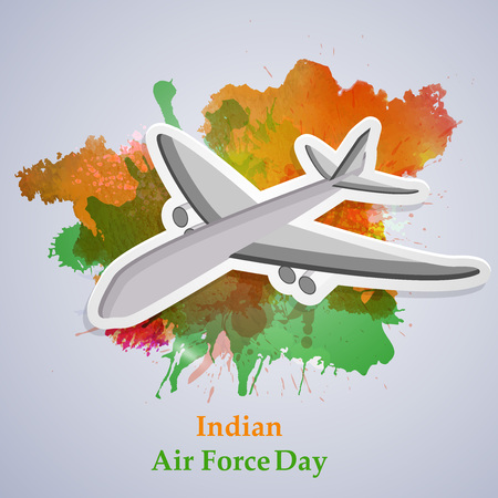 illustration of elements of Indian Airforce Day Background