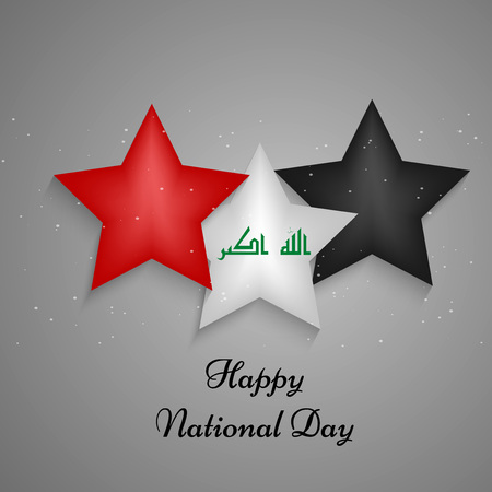 great: Illustration of elements of Iraq National Day Background
