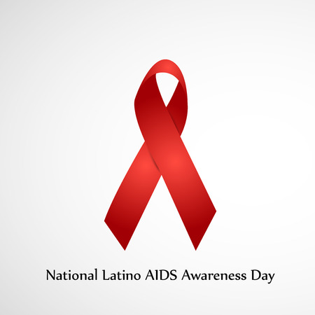illustration of elements of National Latino AIDS Awareness Day Background