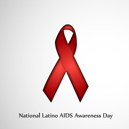 to commit: illustration of elements of National Latino AIDS Awareness Day Background