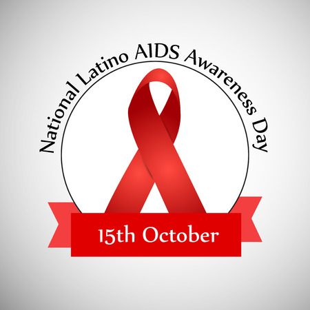 illustration of elements of National Latino AIDS Awareness Day. Illustration