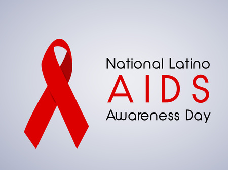illustration of elements of National Latino AIDS Awareness Day. Illustration
