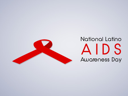 red wallpaper: Illustration of elements of National Latino AIDS Awareness Day.