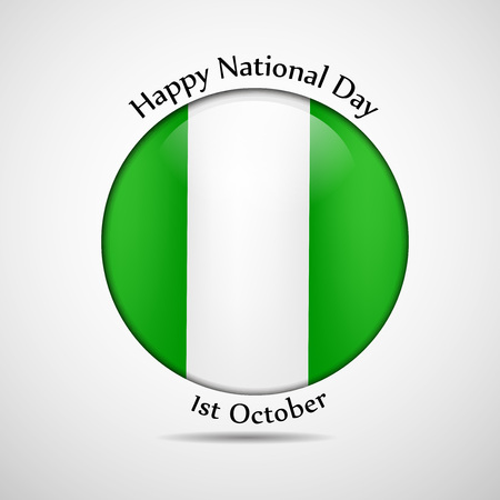 web site design template: illustration of elements of Nigeria National Day background