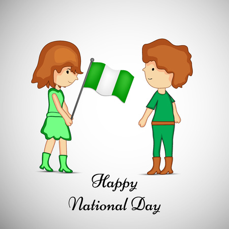 illustration of elements of Nigeria National Day background